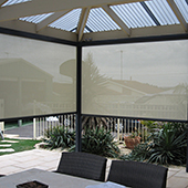 roller screens on residential outdoor area