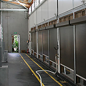 roller shutters as factory divider