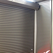 roller shutters in factory installation
