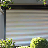 roller shutters on home entertainment area
