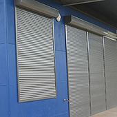 roller shutters on factory