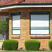 roller shutters for security on house